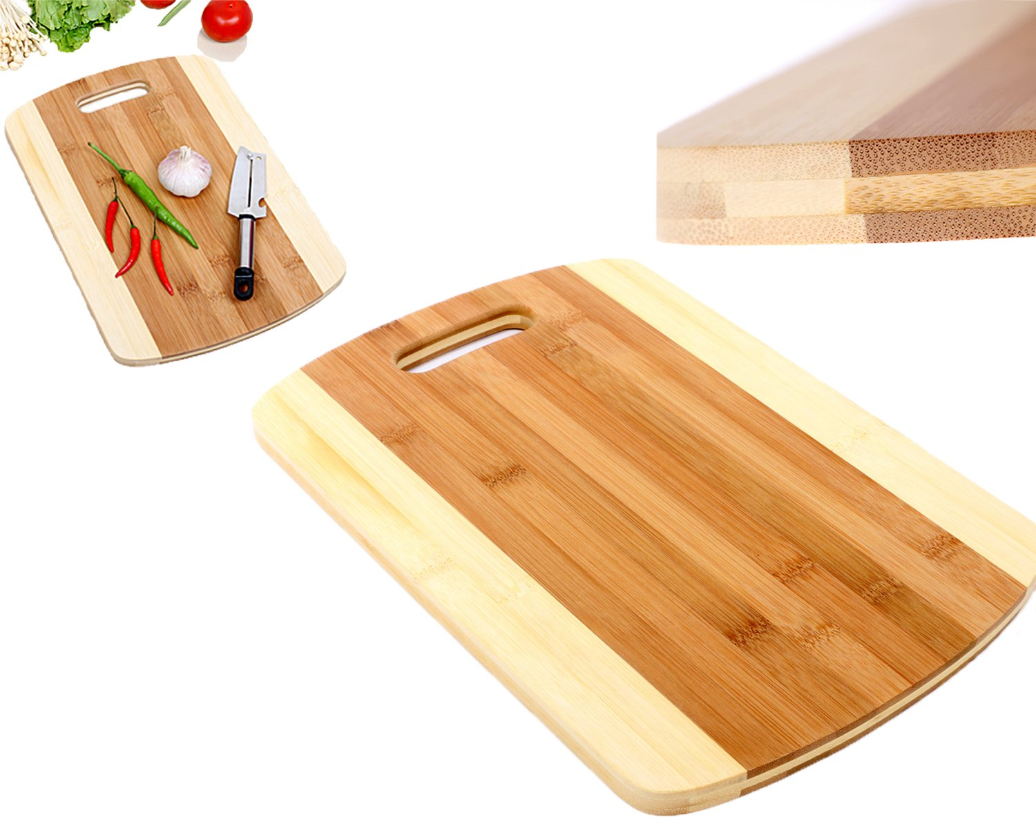 Buy Professional Bamboo Wood Cutting Board And Cheese Board Tiger