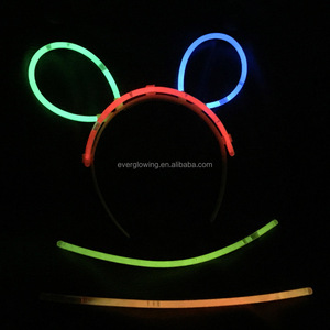 Glow stick hair clip decoration novelty