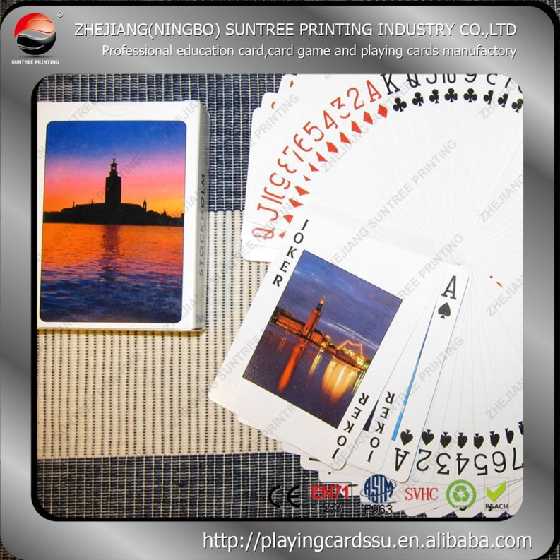 2015 suntree printing mini size paper playing cards