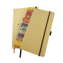 notebook novel kraft stitching binding blank notebook/dairy notepad for customized logo