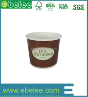 Double PE wholesale paper ice cream cups party supplies