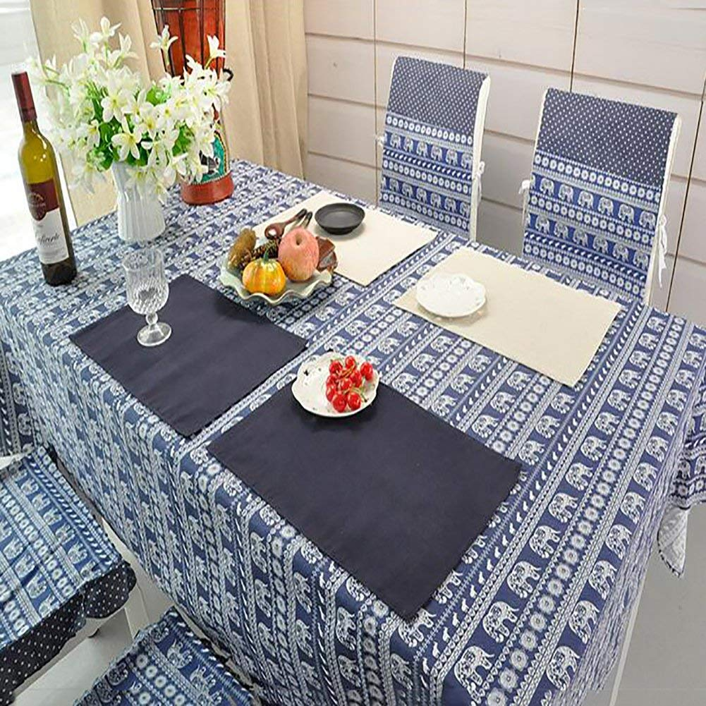 LIUSHIJITUAN Rectangle Fluid systems [retro] Tablecloth,[chinese style] Chinese calligraphy Table cloth Household Kitchen Hotels Picnic Table cloth-C 100x150cm(39x59inch)