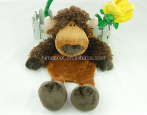 HI CE certificate wholesale toys plush baby toys custom cute yak baby musical toy