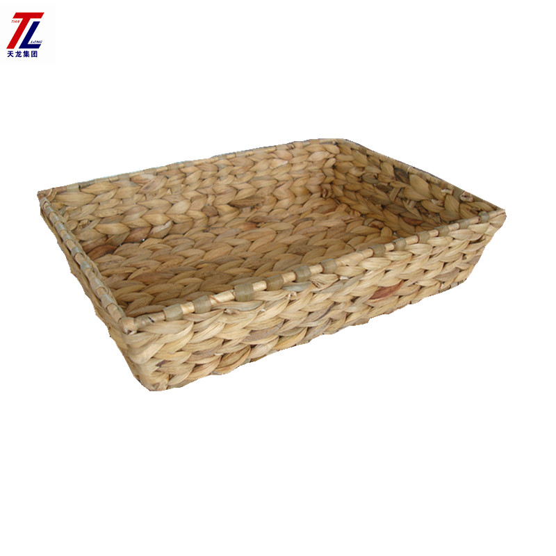Cheap wholesales handmade woven water hyacinth straw basket