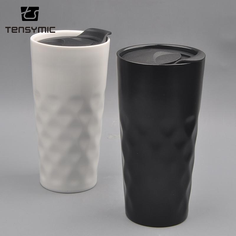 Vente chaude de haute qualité PP couvercle café personnalisé en céramique tasse tasse de voyage