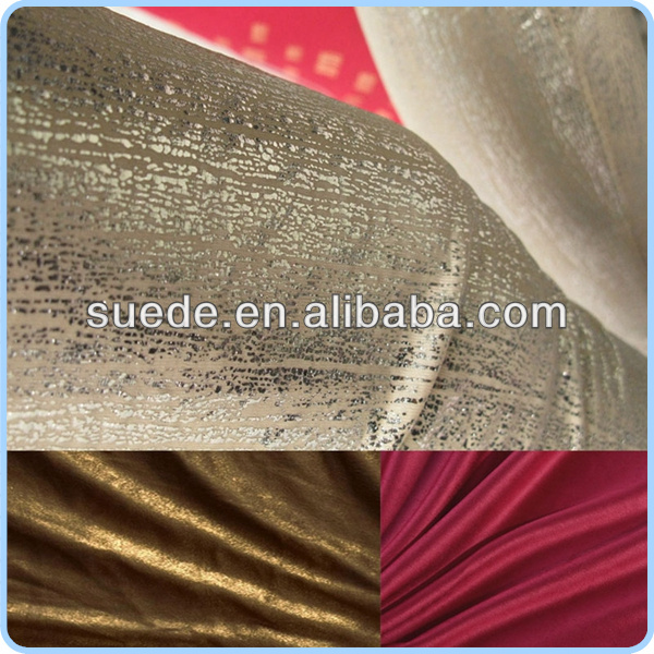 weft knitted fashionable bronzing suede for garment dress
