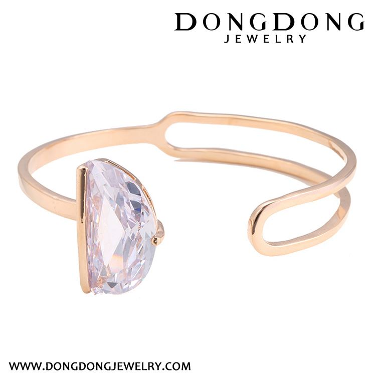 Top selling custom design hollow european style rose gold Inlaid gemstones bracelet jewelry