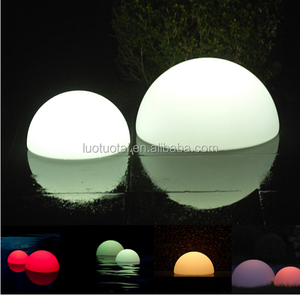 PE plastic waterproof LED garden light ball LED half ball