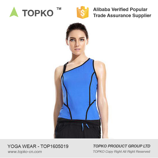 TOPKO top quality fitness wear for women active wear loose fitted tank top
