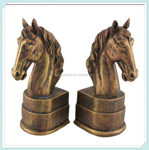 Bronze resin horse head figurine