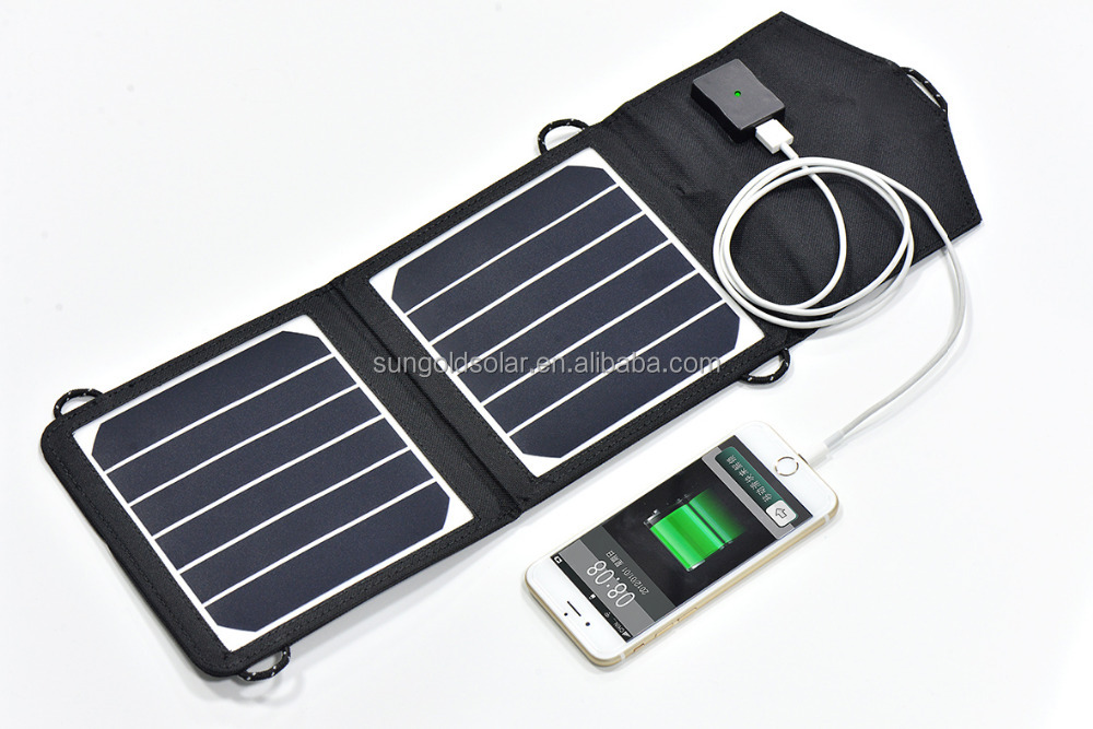 Outdoor portable solar charger, for mobile phone charging