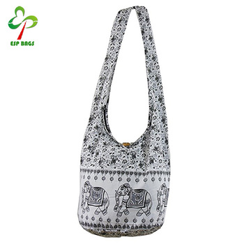 Vintage Elephant Sling Cotton Crossbody Bag Whole Women Handbags From Thailand