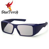 2018Large frame high-end circular polarized light REALD movie city general 3D glasses