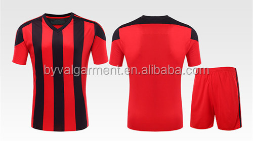 wholesale short sleeve v-neck soccerball sports wear t shirt football jersey full sublimation print t shirts and shorts