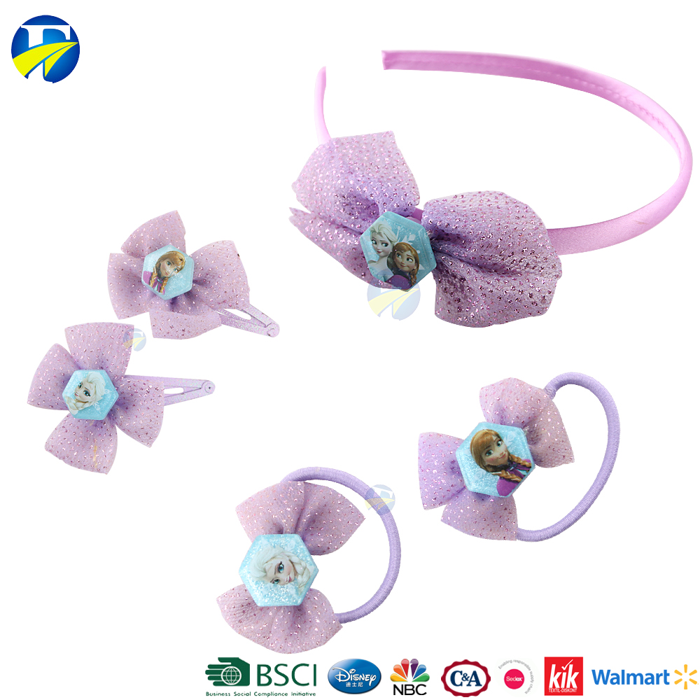 FJ brand 2017 return gifts for kids hair accessories baby girls frozen hair accessory gift set wholesale promotional gifts items
