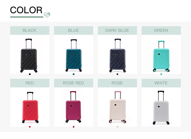 BUBULE In Stock Fashion Light Weight Pink Suitcase 3Pcs Luggage Set