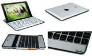 aluminum bluetooth keyboard case for ipad 2 with high quality