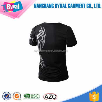 Sports O-neck T-shirt For Men Fitness Wholesale With Tattoo Printing ...