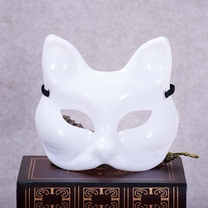 Factory direct DIY white hand-painted color-painted masks Anime hot plastic fox mask wholesale