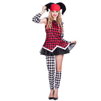Womens ladies Evil Jester Halloween Costume Adult Scary Harlequin Fancy Dress Outfit  sc 1 st  Alibaba & Womens Ladies Evil Jester Halloween Costume Adult Scary Harlequin ...