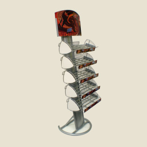 Knock down design metal magazine display rack