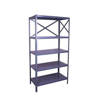 Supermarket Used Heavy Duty Steel Plate Rack Metal Pipe Storage Rack Pallet  Racking 4 Layers Shelf