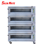 Commercial bread bakery baking oven3 layers 6 trays electric equipment rotary bakery deck oven
