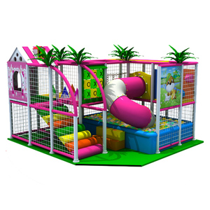 Two Floors Low Price Kids Playground Equipment Indoor with Customized Structure and Plastic Ball Pool