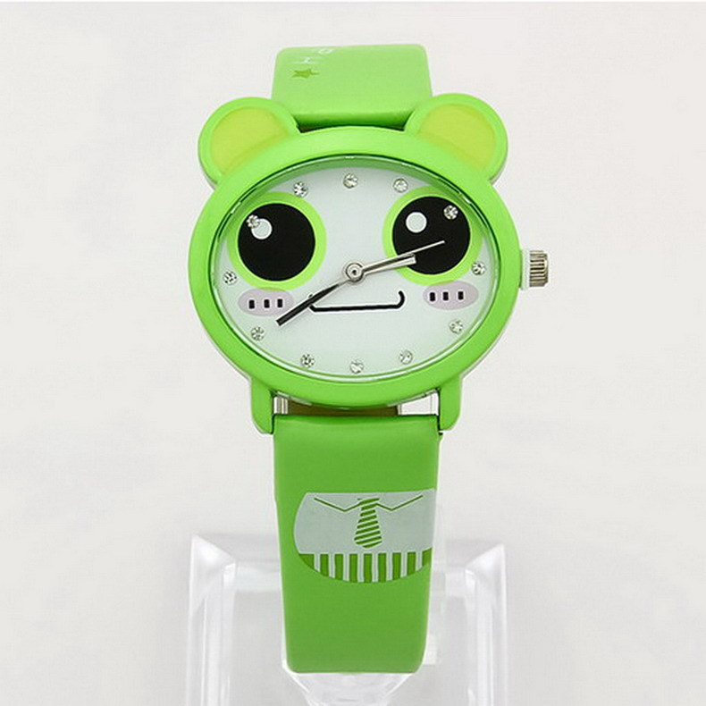 Lovely Cartoon Children Watches 7 Colors Different Expression Girl Kids Student Cute Leather Sports Quartz Watches Water proof