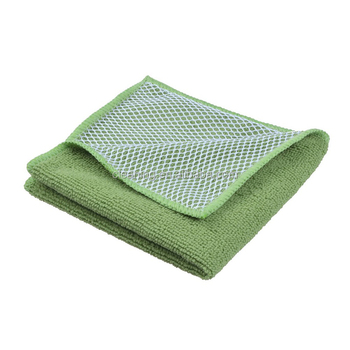 Microfiber Dish Cloths With Mesh Scrubber To Clean Kitchen Made In China