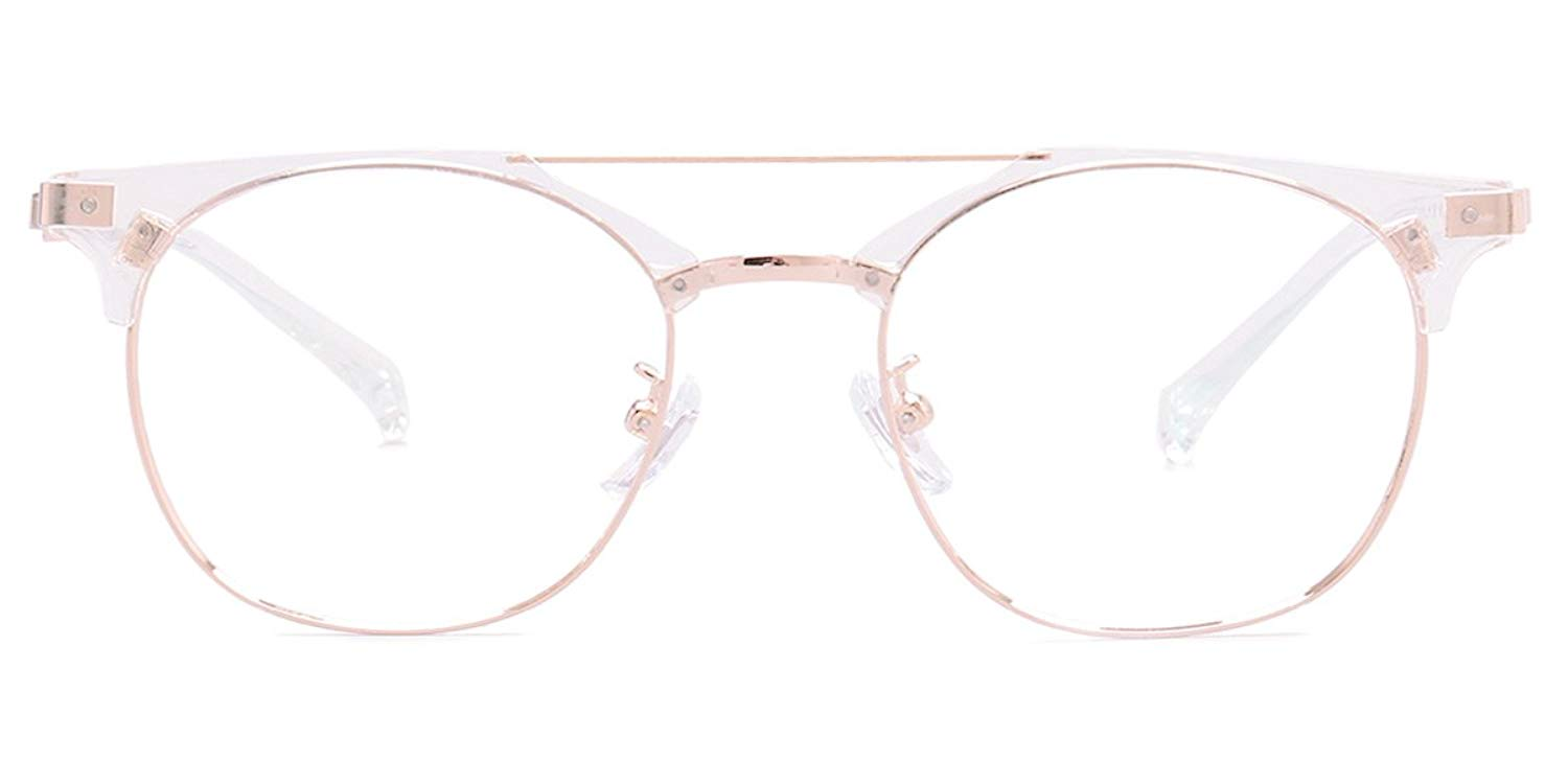 1698ef513de Get Quotations · Firmoo Lightweight Sturdy Metal Browline Stylish Reading  Glasses with Optical Lens Readers