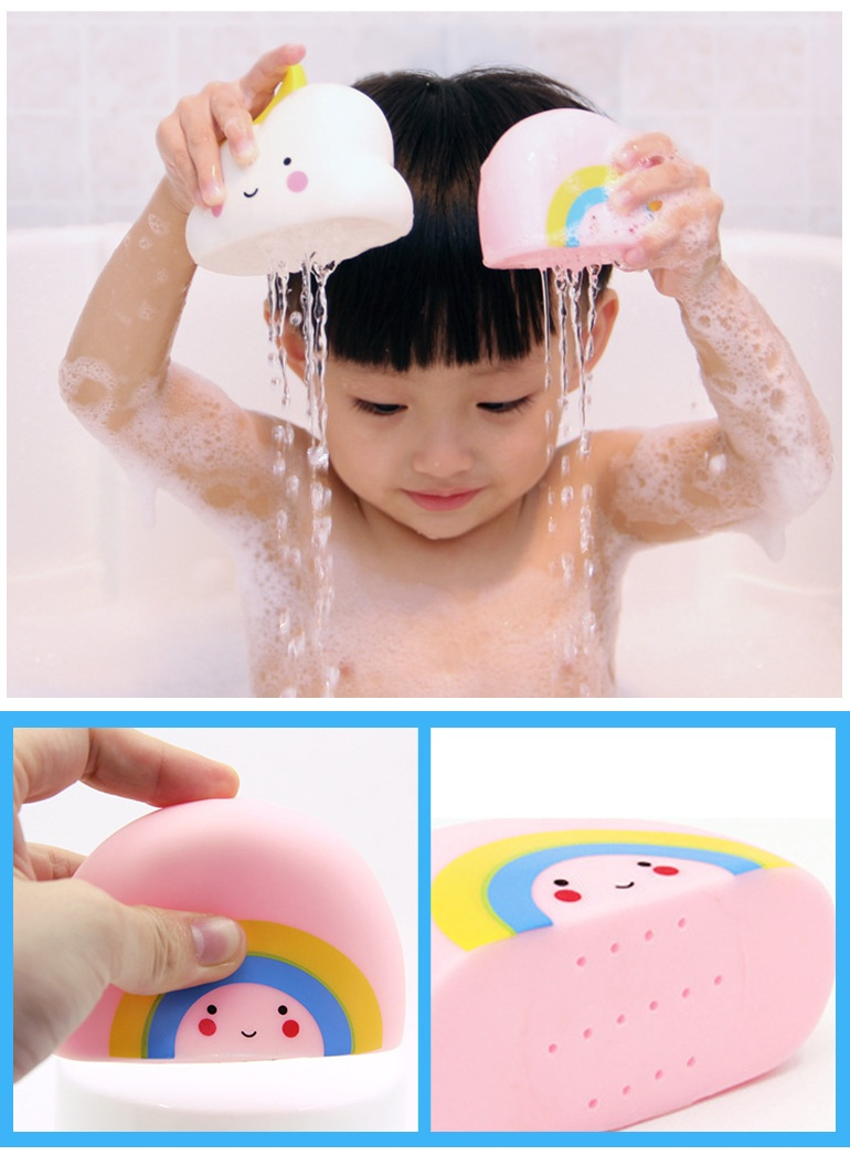 Cartoon weather play water set soft rubber baby bath squirt toys