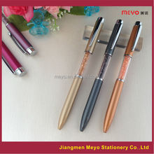 Fancy logo printing custom made crystal filled pens