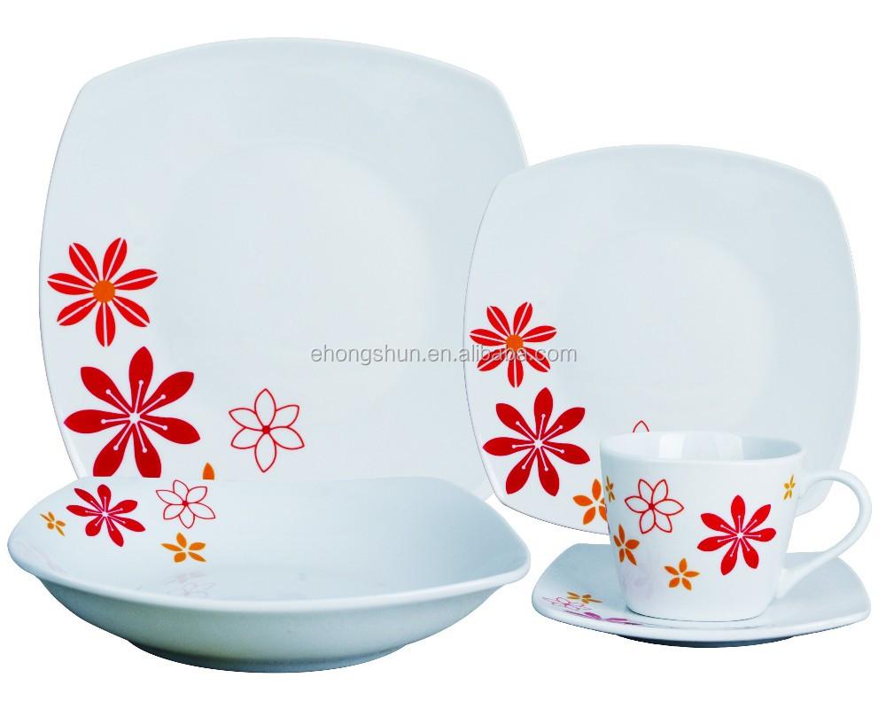 Square Dinner Set English Porcelain Kitchen Crockery Tableware Buy