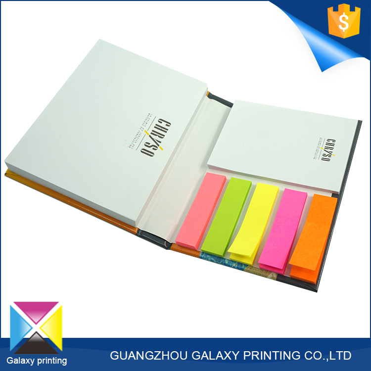 Promotional gift custom size and shape folding hard cover kraft memo sticky note pad