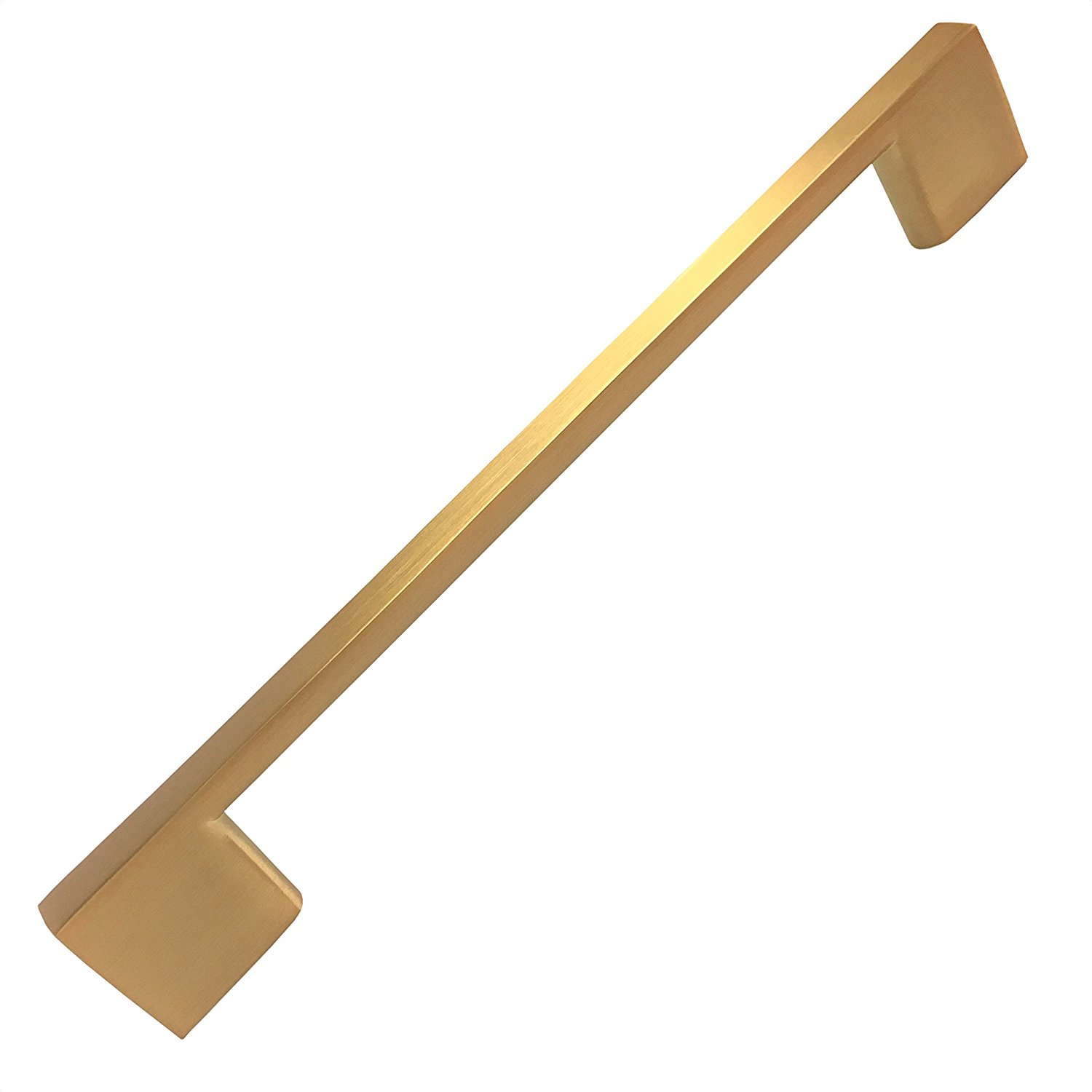 Southern Hills Brushed Satin Gold Cabinet Pulls, 8.75 Inch Screw Spacing, 10 Inch Handle Length ,Drawer Pulls, Pack of 5, Modern Cabinet Hardware, Satin Brass Cabinet Pulls SH3229-224-GLD-5