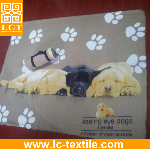 supply new arrival super soft roll up Polar Fleece travel Blanket with full color full size printing(LCTM0005)