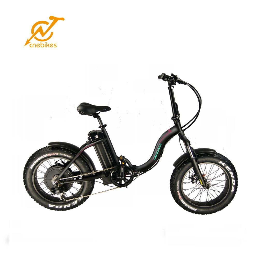 2019 CE Certified 48v 500w rear hub motor black color folding fat tire bike