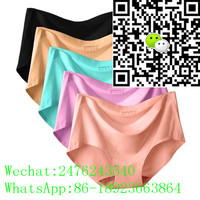 garment factory wholesale women 3D print panties s m l one piece sexy briefs free panties sample ice silk traceless underwear