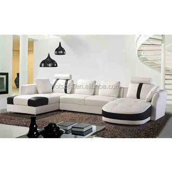 T303 Sectional Sofa U-Shape Living Room Sofa Leather Modern Sofa Set ...