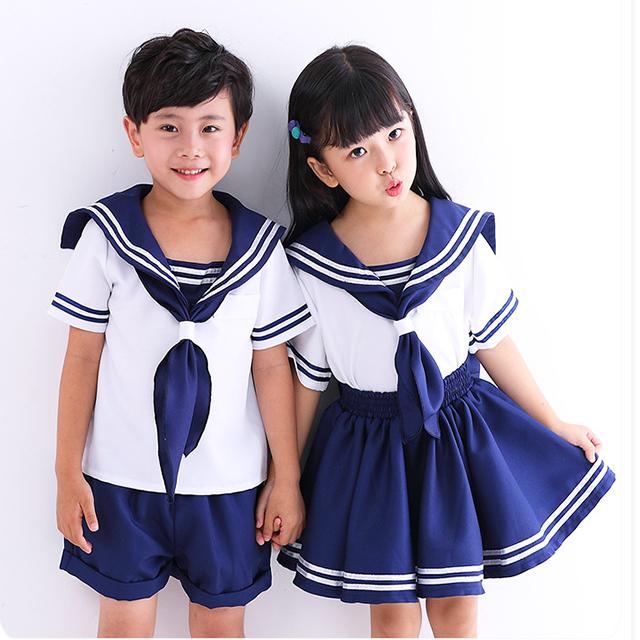 005474c14 Los niños de jardín de infantes diseños de estilo marinero de niños y niñas  uniforme de