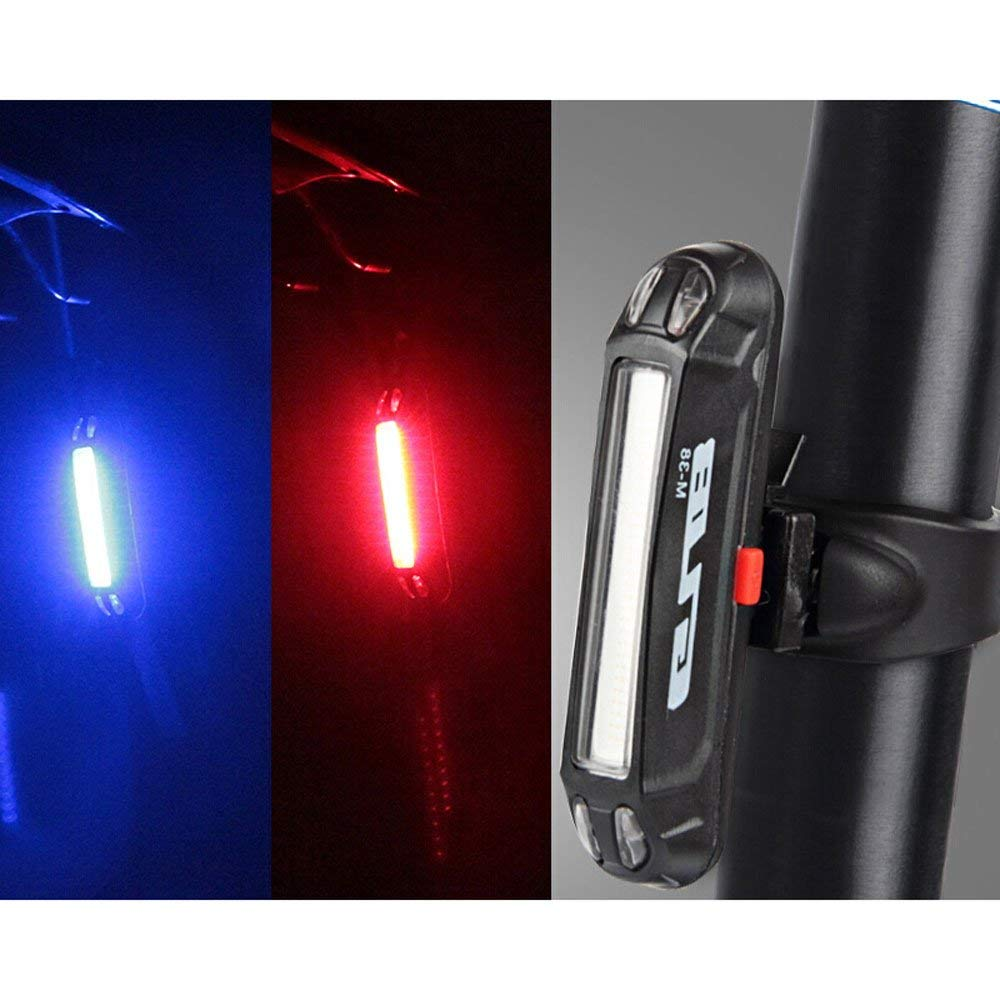 Powerful LED Bike Rear Lights,Super Bright Easy Install and Water Proof Red Tail Lights AAKULU Back USB Rechargeable Bicycle Tail Head Lights