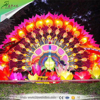 Outdoor Lanterns Large Electric Chinese Festival Lantern For Park Display Decoration