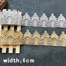 High quality gold silver decoration water soluble african Crown lace fabrics