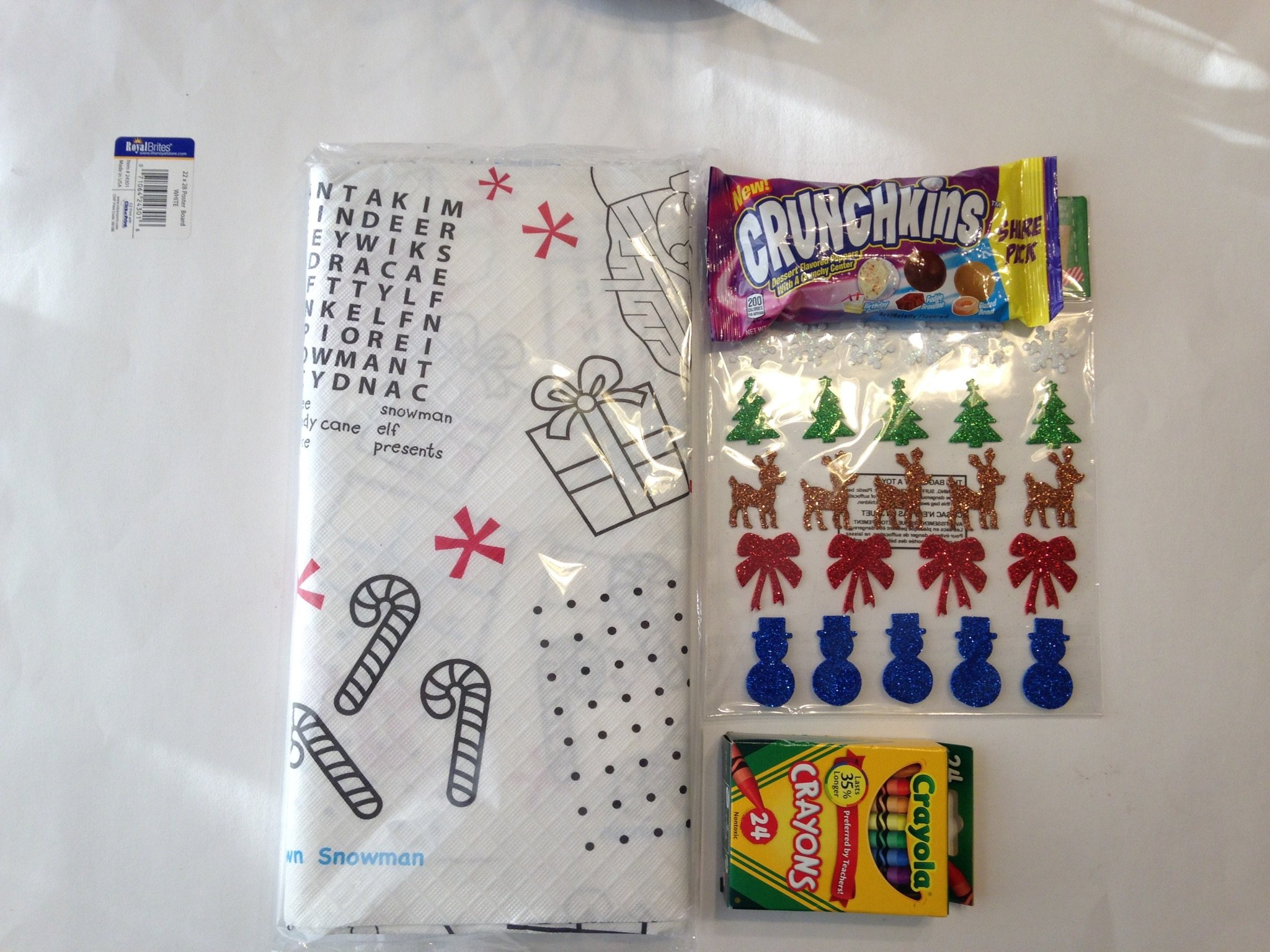 Buy Kids Activity Christmas Tablecloth Bundle 5 Items 1 Paper