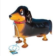 50pcs lot my own pet balloon Dachshund Sausage dog walking balloon Party balloons Free shipping