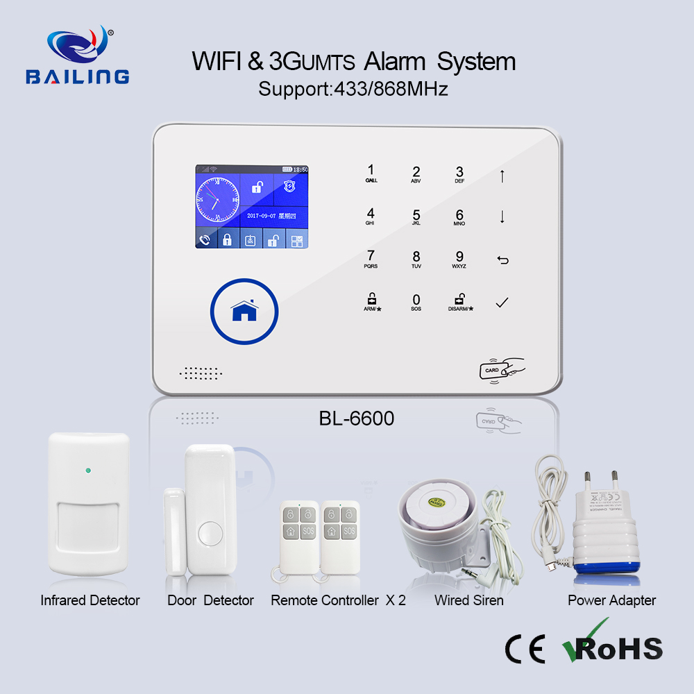 TFT LCD 용 Panel GSM 홈 자동화 personal alarm connect smoke detector (kindle fire alarm 무선 보안 도난 alarm system 안티 테 프트