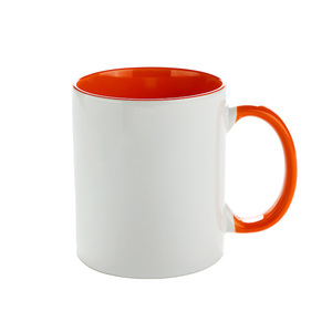 Inner and handle color mug for sublimation white surface mug