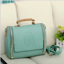 2016 New Arrival women cross body bag Barrel-shaped Pu women shoulder bag Messenger Bags