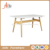 Glass dining table wood leg modern